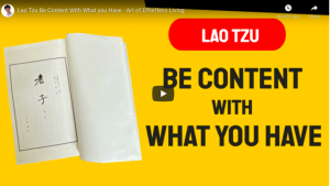 be content with what you have lao tzu